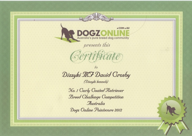 Dogz on Line Cert